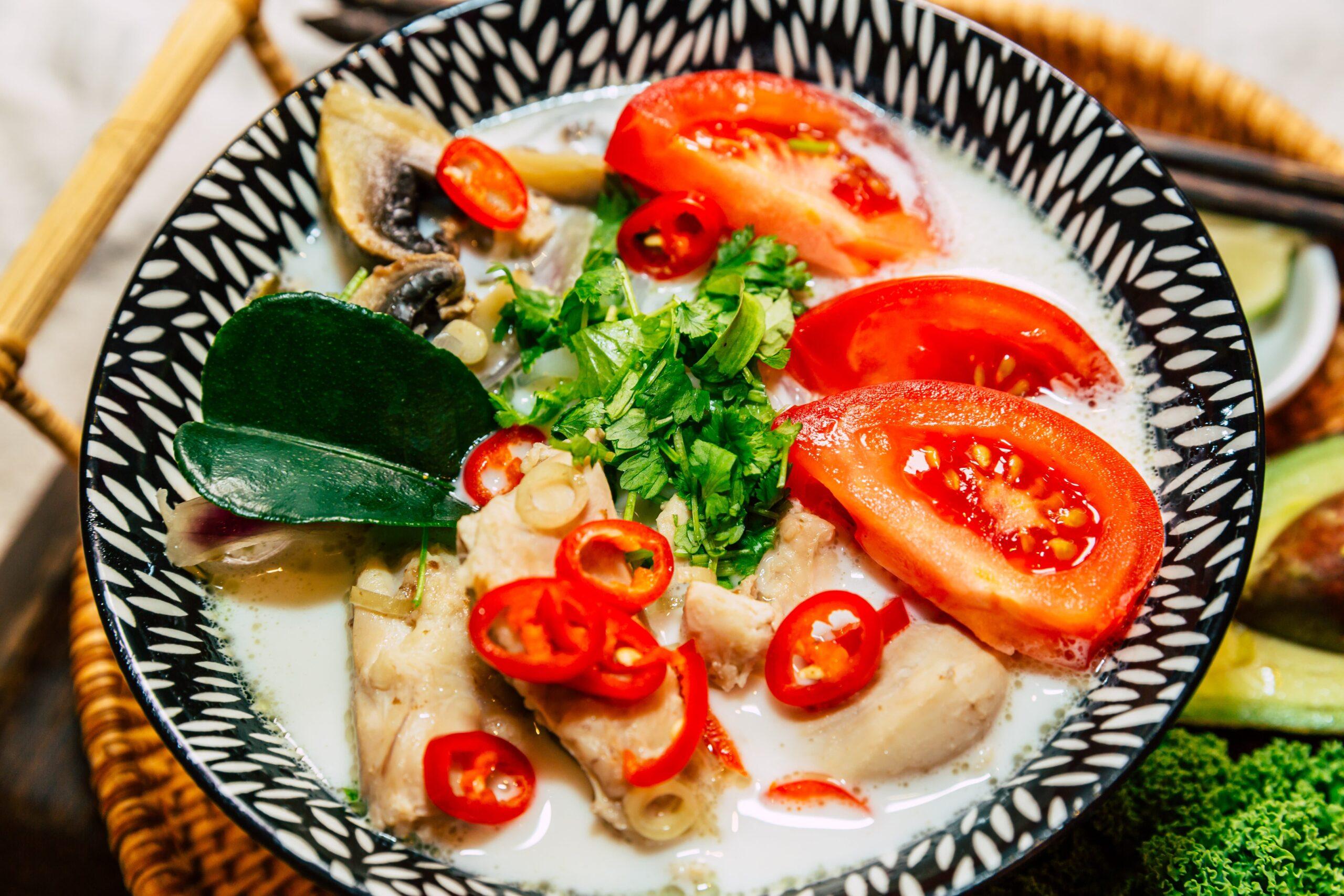 Keto Tom-Kha Shirataki Noodle Soup with Chicken