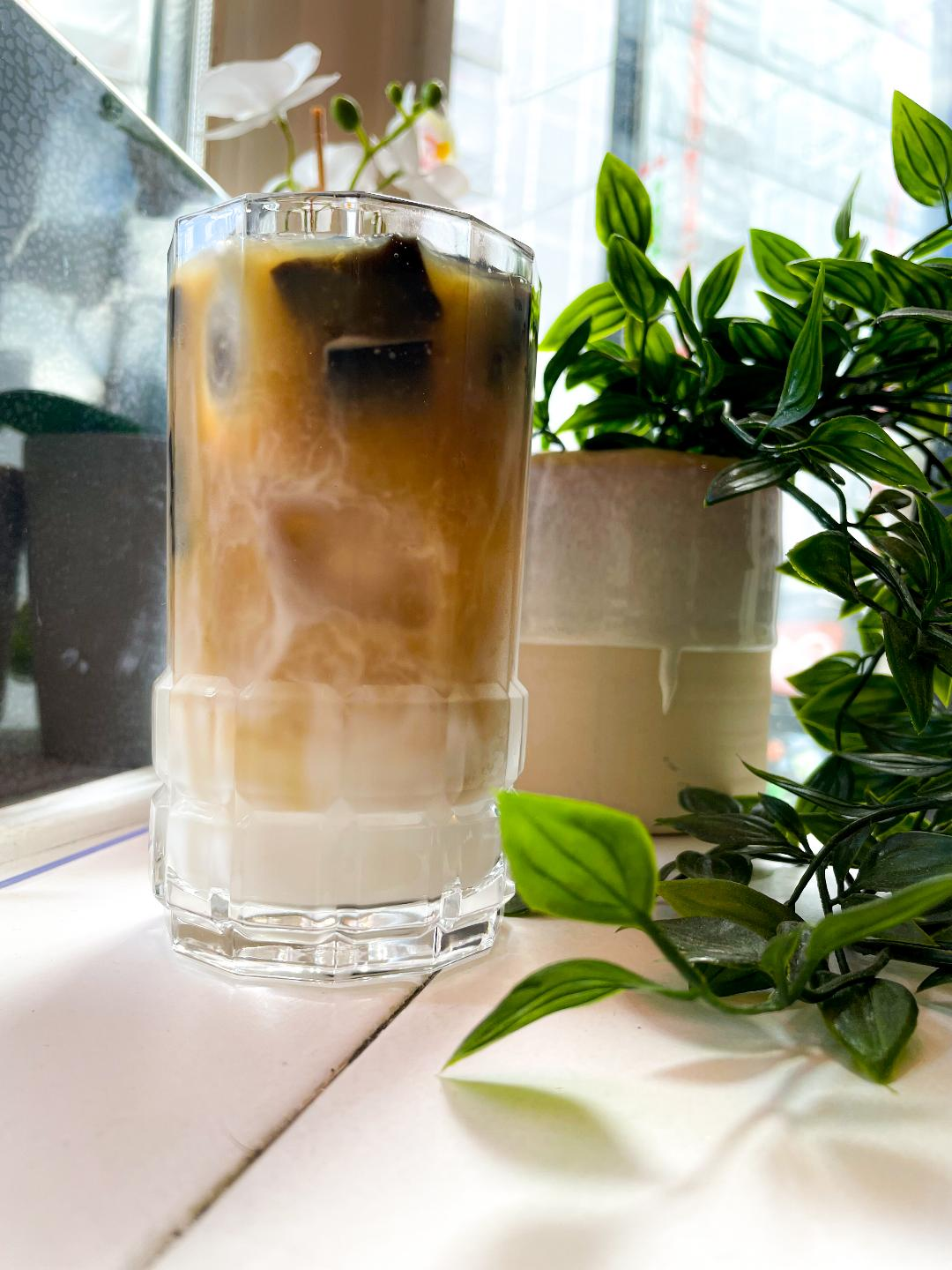 Grass Jelly Thai Coffee (Cold)