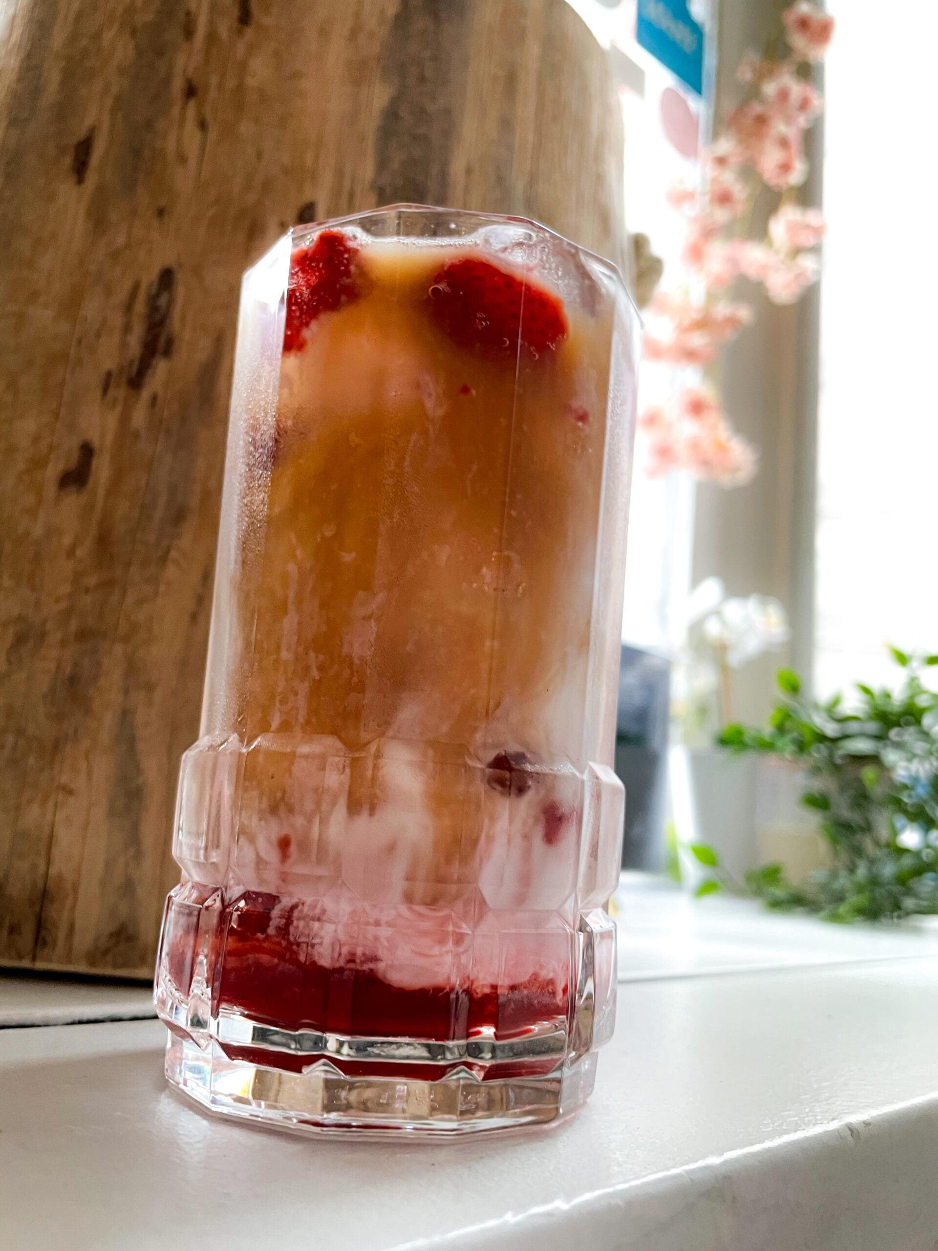 Strawberry Coffee Milk Latte (Cold)