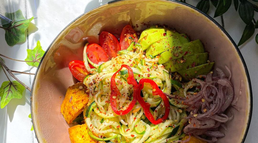 Skinny Zoodle with Vegan Meat